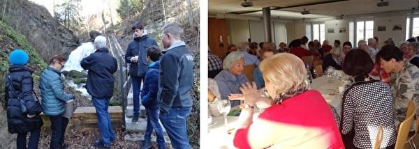 links: Fürtitobel / rechts: Freiwillige Helferinnen und Helfer