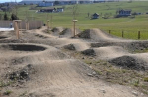 Infolge Sanierungs- und Unterhaltsarbeiten ist die Pumptrack-Anlage im Freizeitpark Erlenmoos vom 12. bis 23. April 2021 gesperrt.