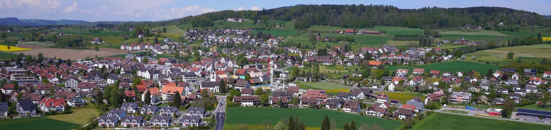 Luftaufnahme Dorf vom Haselbach her