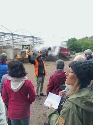 A la compostière Ecorecyclage à Lavigny (4 mai 2019)