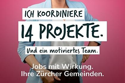 Text: Ich koordiniere 14 Projekte. Und ein motiviertes Team.