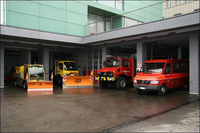 Werkhof und Feuerwehrmagazin samt Fuhrpark