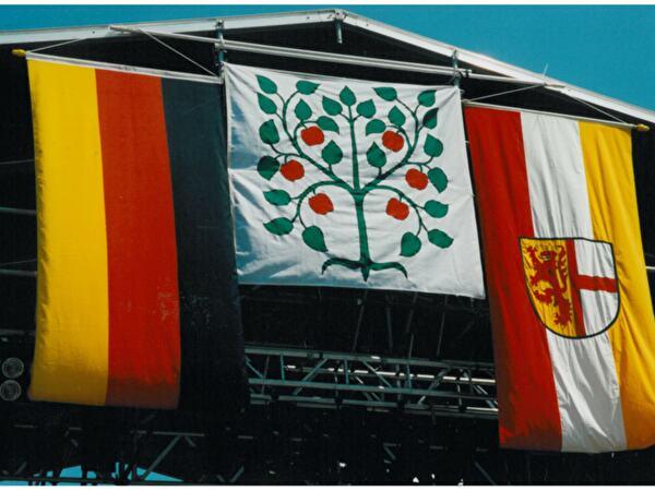 Foto von den Wappen von Amriswil und Radolfzell/Deutschland
