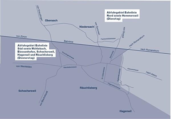 Plan der Kehrichtabfuhr