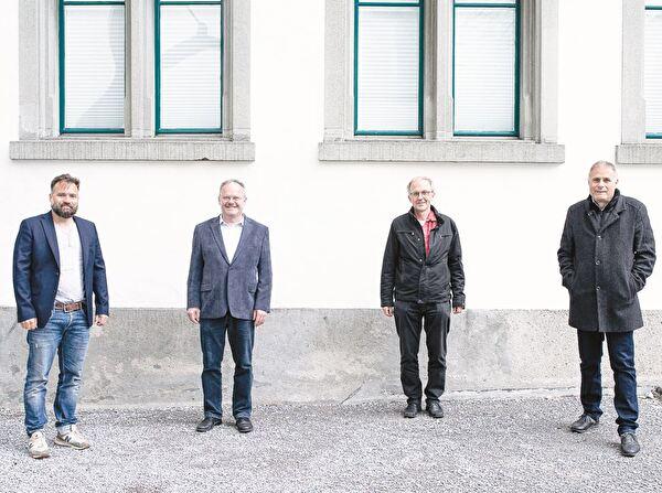 Der erweiterte Vorstand vom Verein Horizont bei der Gründung (von links): Martin Baumann, Guido Knaus, Willi Gantenbein und Martin Zünd.
