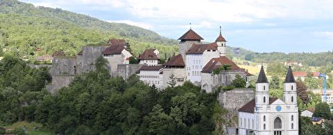 Ansicht Festung Aarburg