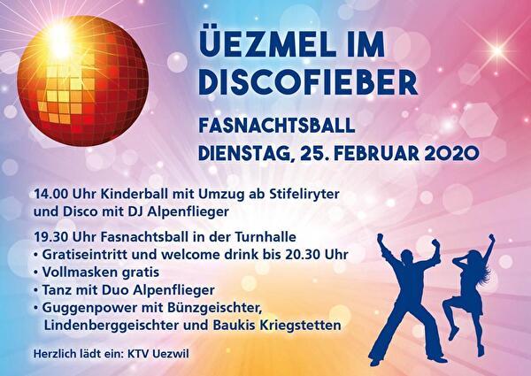 Fasnachtsball Üezmel im Discofieber