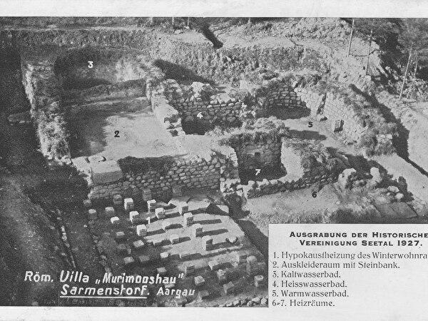 Postkarte Römische Villa