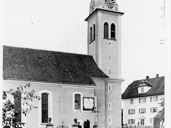 Historische Ansicht katholische Kirche von 1933