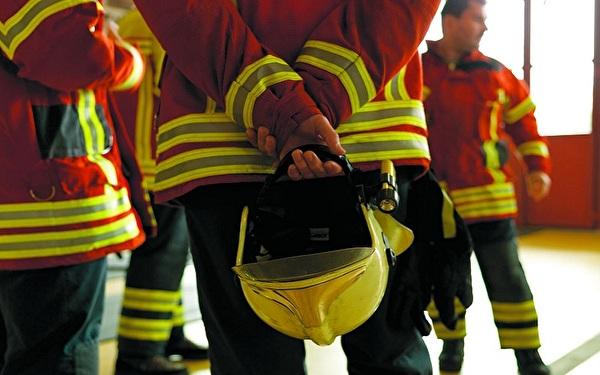 Feuerwehr an Besprechung