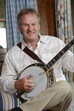 Mann mit Banjo