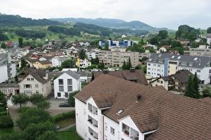Dorf mit Häusern