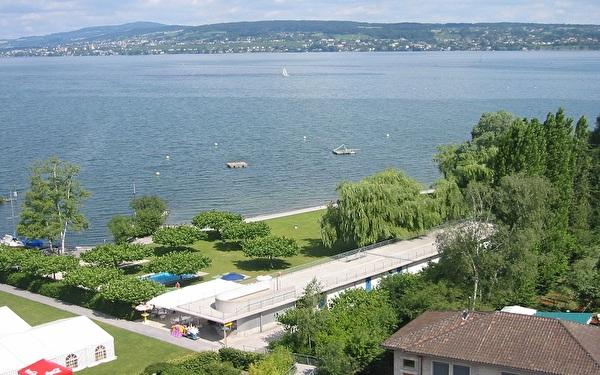 Badeanstalt Luftbild