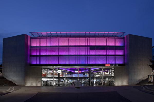James Turrell: Lichtinstallation SBB Bahnhof Zug