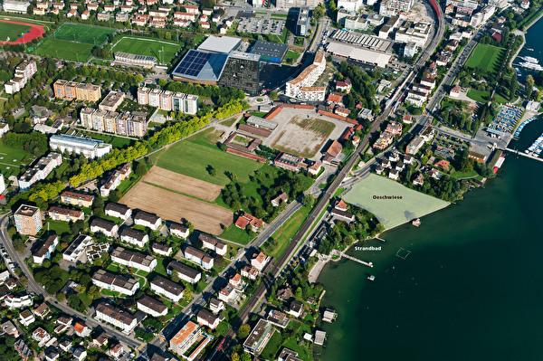 Luftbild Oeschwiese mit Strandbad