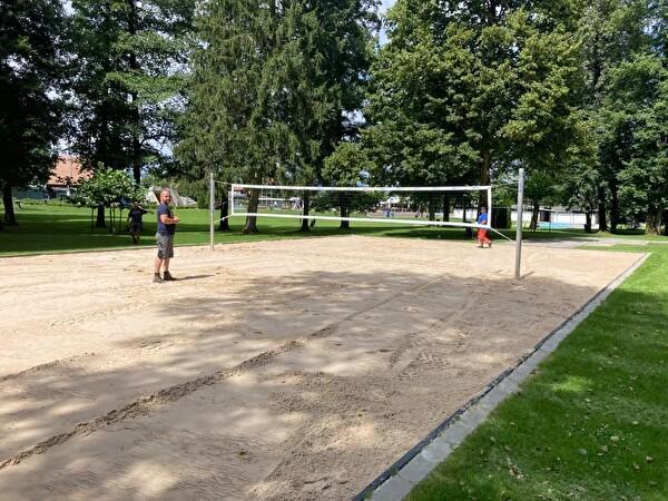 Fertig erstelltes Volleyball-Feld