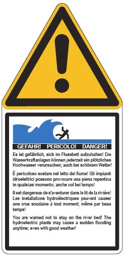 Hochwasser Warntafel