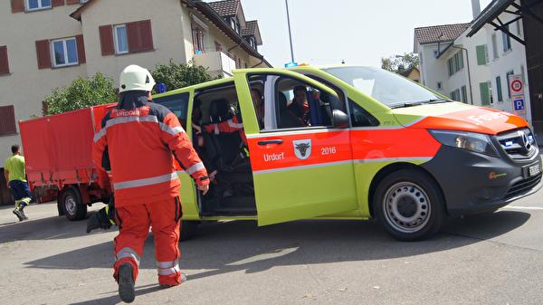 Einsatz Feuerwehr Urdorf