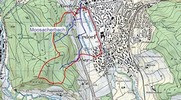 Karte Moosacherbach