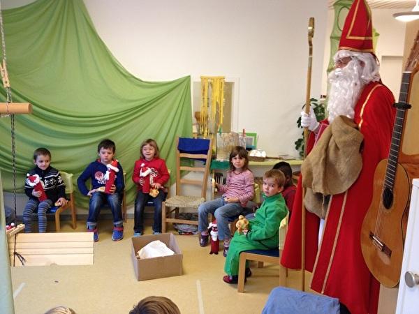 Samichlaus im Kindergarten