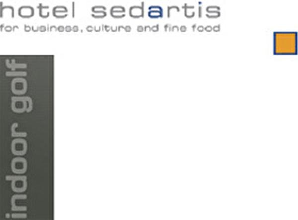 Logo Sedartis mit Indoor-Schriftzug