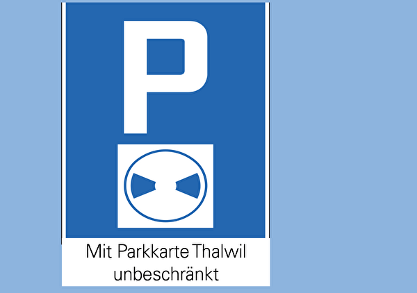 Parkieren mit Parkkarte Thalwil