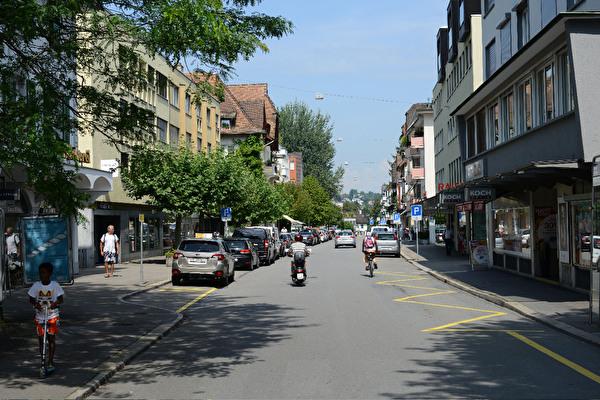 Blick in die Gotthardstrasse