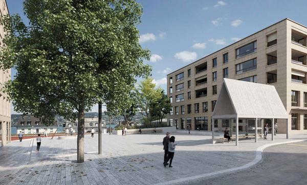 Centralplatz / Visualisierung Siegerprojekt der Balliana Schubert Landschaftsarchitekten AG