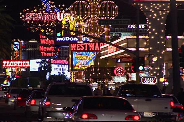 Leuchtreklamen in Las Vegas