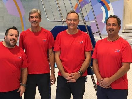 Alex von Arx, René Wick, Urs Lützelschwab (Teamleiter), Martin Hugener (Stellvertreter) (v.l.n.r.)