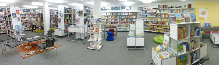Die Bibliothek Rosengarten präsentiert sich