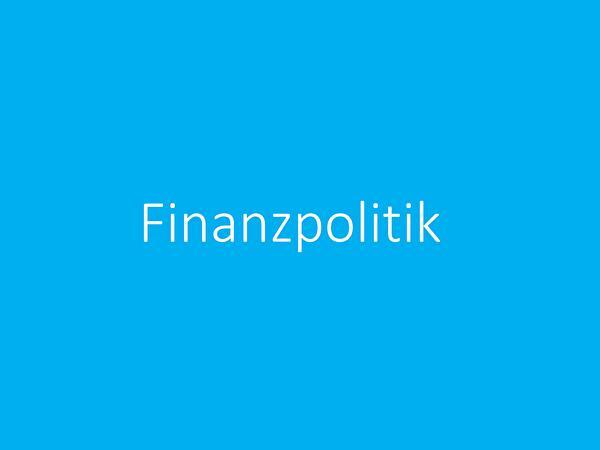 Stabile Finanzpolitik