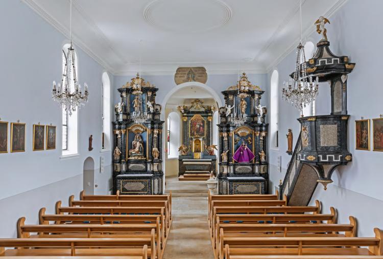 Kirche Meltingen innen1