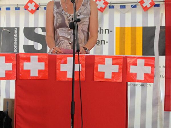 Gemeinderätin Myriam Geisser am Rednerpult