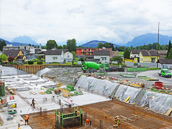 Bau Zentrum Rheinauen, 03.07.2020