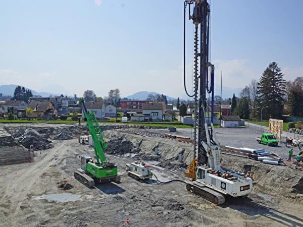 Bau Zentrum Rheinauen, 03.04.2020