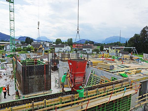 Bau Zentrum Rheinauen, 28.08.2020