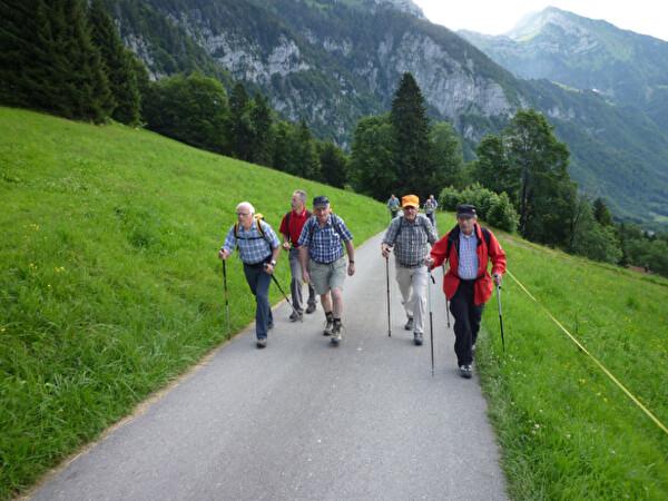 Die Gruppe 60+ beim Wandern