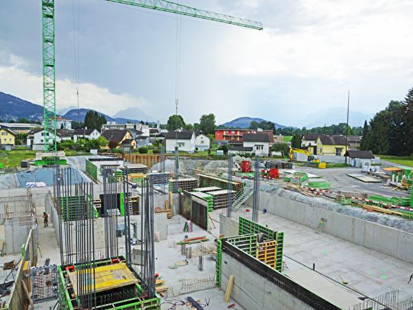 Bau Zentrum Rheinauen, 10.07.2020