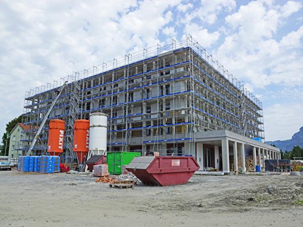 Bau Zentrum Rheinauen, 13.08.2021