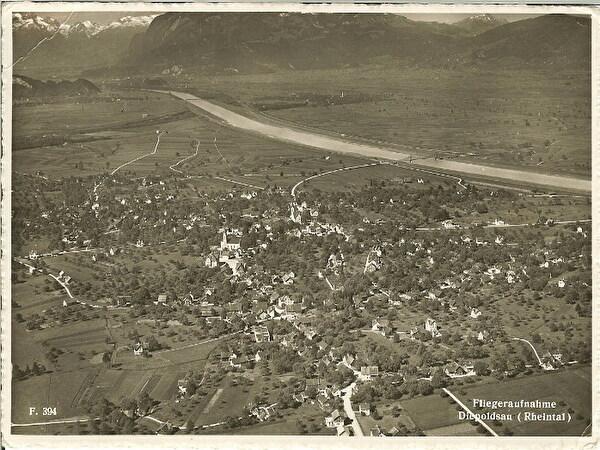 Flugaufnahme Diepoldsau von 1938