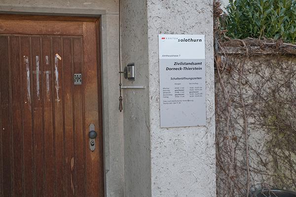 Eingang Zivilstandsamt