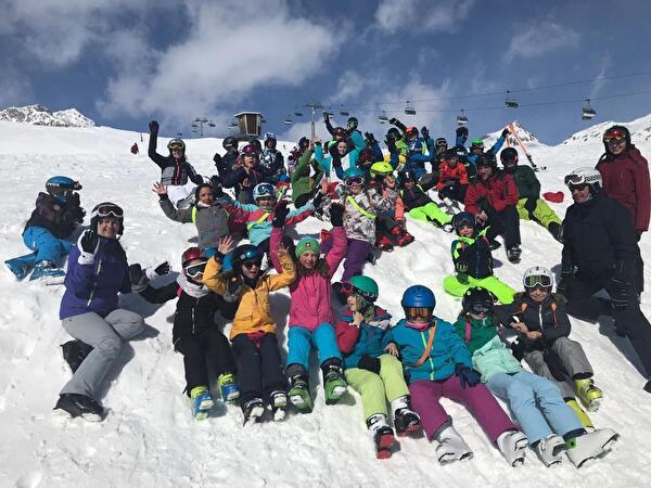 Skilager der Mittelstufe