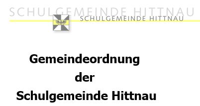 Gemeindeordnung der Schulgemeinde Hittnau