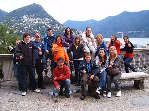 Klassenfoto in Locarno