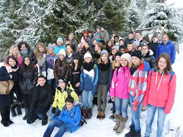 Klassenfoto auf dem St. Jost
