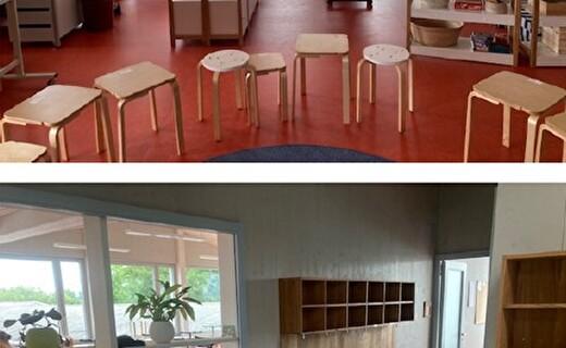Neues Primarklassenzimmer im Neubau D des Schulhauses Lätten