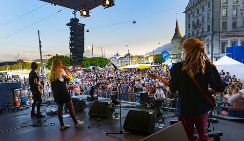 Eine unserer Bands am Luzerner Fest
