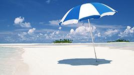 Bild: Strand und Sonnenschein