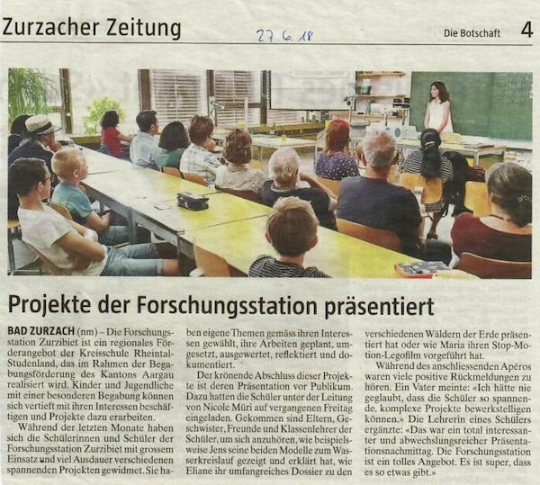 Pressebericht Botschaft Forschungsstation Zurzibiet